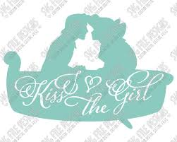 Small Picture Little Mermaid Ariel and Eric Silhouette Disney Word Art SVG Cut