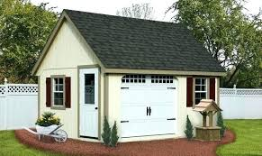 A Storage Shed With Garage Door Garden  Small In