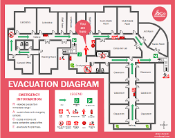 Evacuation Plan Sample Free Colored Evacuation Plan Templates