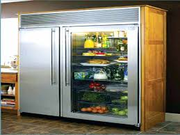 glass front french door refrigerator subzero doors with for in