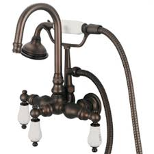 wall mount clawfoot tub faucet handheld shower. vintage classic 3.375\ wall mount clawfoot tub faucet handheld shower l