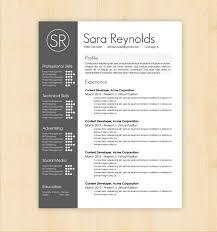 Design Resume Template Resume Template Sara Reynolds Free Resume