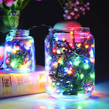 multi color outdoor solar jar design. Solar 100 LED String Lights Outdoor Waterproof Multicolor Decorative Light For Home/ Party/ XMas/ Decorations (Solar Decor Lights), Multi Color Jar Design D