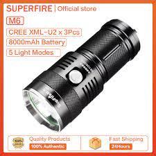 Bảng giá Đèn Pin LED Siêu Sáng Supfire M6 Đèn Pin Cắm Trại Chống Nước Ngoài  Trời 3000 Lumens