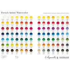 Fw Inks Colour Chart Sennelier Watercolour Printed Colour Chart