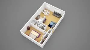 view 2d floor plan 1 bedroom