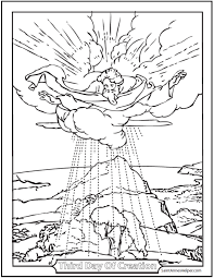 Small Picture Creation Coloring Pages God Created Heaven And Earth