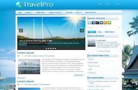 Beach Travel Blue Free Blogger Theme Template Free Css Templates