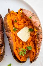 air fryer baked sweet potato pure and