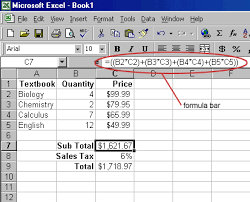 creating formulas in excel untitled document