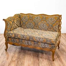 Vintage fainting couch Red Old Gold Brocade Fainting Couch Sofa Loveseat Settee Cookie Connection Gold Brocade Fainting Couch Sofa Loveseat Settee Loveseat