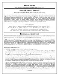 Example Of Business Analyst Resume Insurance Quality Sen Peppapp
