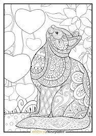 Kleurplaat Poes Download Gratis Poes Kleurplaten Eendiernl