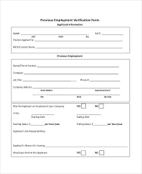 Free Employment Verification Form Template Magnificent 48 Sample Verification Forms Sample Templates