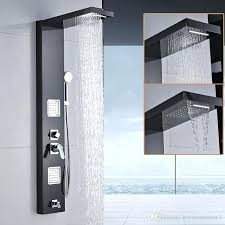 shower panel tower wall shower panel stainless steel 5 function rainfall waterfall handle shower massage jets shower panel tower