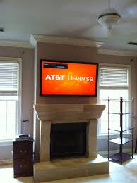 Antique Tv Mounted Over Fireplace Plus Tv Installations Unisen Media Llc in Tv  Above Fireplace