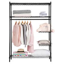 Heavy Duty Coat Rack With Shelf Heavy Duty Zip Closet Garment Rack LANGRIA 13