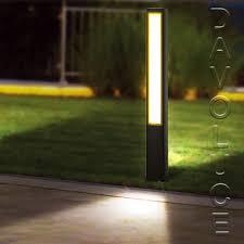 garden bollard lighting. CLA ALUM4 - LED Exterior 800mm Bollard Light From Davoluce. Lights Perth, Garden Lighting