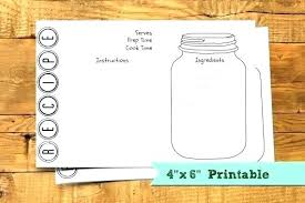 Index Card Recipe Template Recipe Index Card Template Note Free Printable Thank You
