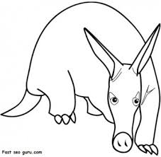 Small Picture Print out animal Aardvark coloring pages Printable Coloring