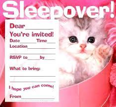 free sleepover invitation templates sleepover invitation template free printable birthday templates