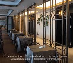 restaurant room divider using stainless
