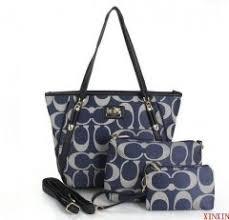 Coach Legacy Duffle Signature Medium Blue Shoulder Bags Combination Deals