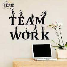 office wall stickers. Office Wall Sticker Team Work Quote Motivation Inspired Lettering Words Art Meeting Room Stickers