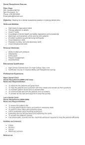 Dental Receptionist Resume Examples Resume Web