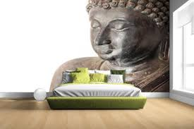 Bolcom Boeddha Hoofd Van Steen Fotobehang 380x265
