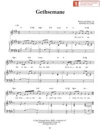 gethsemane sheet music gethsemane sheet music download deseret book