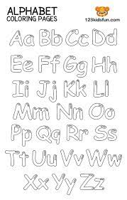The letter a is for apple. Free Printable Alphabet Coloring Pages For Kids 123 Kids Fun Apps