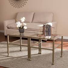 bunching coffee tables. Shop Porch \u0026 Den RiNo Brighton Matte Gold Metal/ Glass Bunching Coffee Table - On Sale Free Shipping Today Overstock.com 22751656 Tables