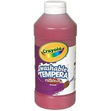 Crayola Artista II Washable Tempera Paint 16oz Red