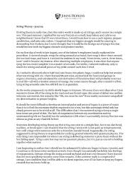 essay literary writing value of discipline