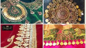 Lakshmi Rupu Blouse Designs Latest Saree Blouse Design Of Kasu Work For Pattu Sarees Jewel Fashion