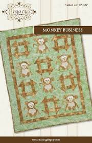 Monkey Business Quilt Pattern by Legacy Patterns at KayeWood.com &  Adamdwight.com