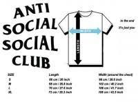 Anti Social Social Club Tee Size Chart Anti Social Social Club Size Chart Tee Antisocial