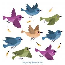 flying sparrow clipart. Simple Flying Flat Flying Bird Background And Flying Sparrow Clipart A