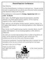 parent teacher conference letter to parents examples example parent teacher conference letter by sarah hewitt tpt