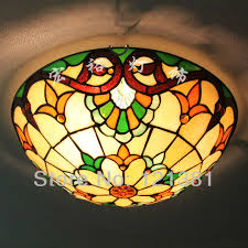 ceiling light below shows more details of the lamp 12 inch flush mount stained glass
