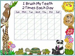 Free Printable Tooth Brushing Chart Free Tooth Brushing Chart Free Printable Tooth Brushing