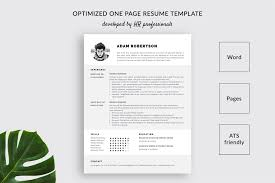 Ats Friendly Resume Template Adam Bonus