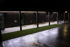 outside patio with cool natural white flexible led strip for lighting