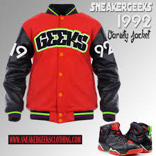 geeks 1992 varsity jacket to match jordan 7 marvin the martian