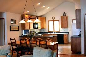 recessed lighting for vaulted ceilings lights slanted ceiling best cathedral kitchen