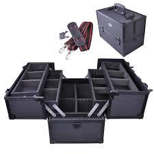 aw 14 x8 x10 aluminum makeup case cosmetic train storage trays lock