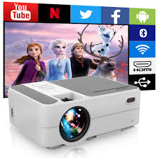 Amazon.com: WIKISH Portable Wifi Android Projector,Mini Bluetooth Movie  Projector Outdoor Led Theater Proyector with Miracast Zoom Hdmi Usb for  Laptop Tv Box Ps4: Electronics