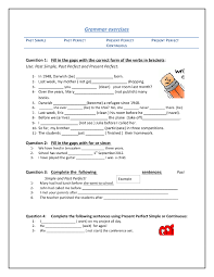 Worksheets On Simple Present Tense with Answers | Homeshealth.info