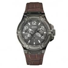 mens guess watches for ticwatches co uk designer discount store guess w0040g2 rigor brown gunmetal men s watch